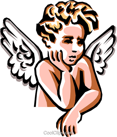 Angel Royalty Free Vector Clip Art illustration reli0002