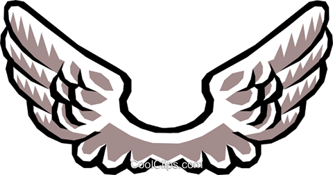 Angel's wings Royalty Free Vector Clip Art illustration reli0080