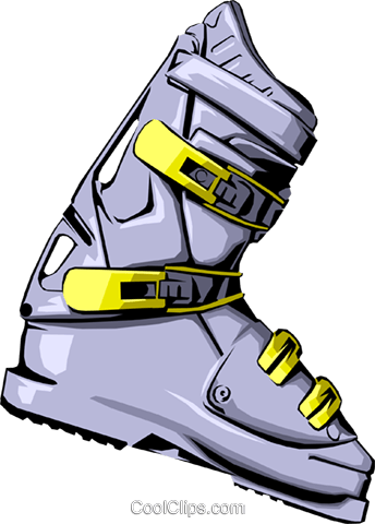 Ski boot Royalty Free Vector Clip Art illustration spor0001