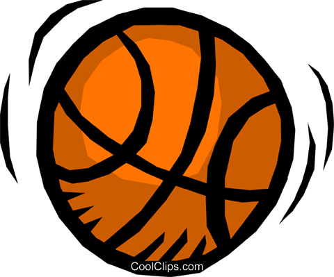 Basketball Royalty Free Vector Clip Art illustration spor0044