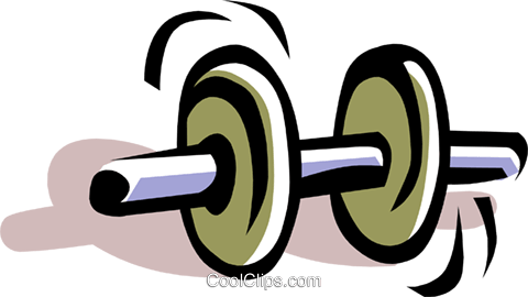Dumbbell Royalty Free Vector Clip Art illustration spor0049