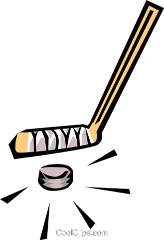 Hockey stick Royalty Free Vector Clip Art illustration spor0051