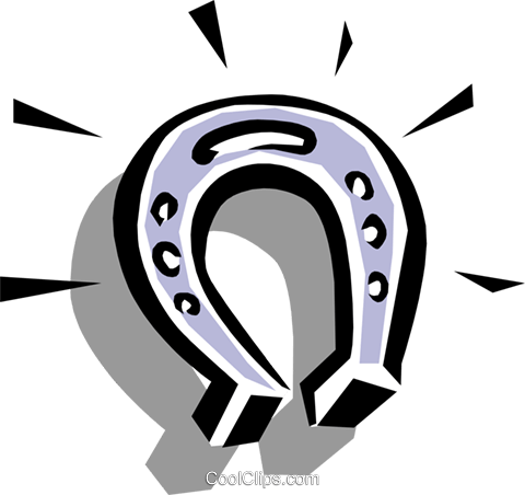 Horseshoe Royalty Free Vector Clip Art illustration spor0135