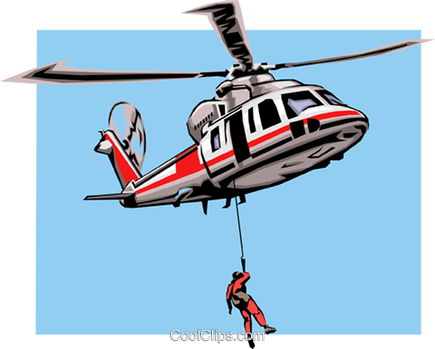 Rescue helicopter Royalty Free Vector Clip Art illustration tran0280