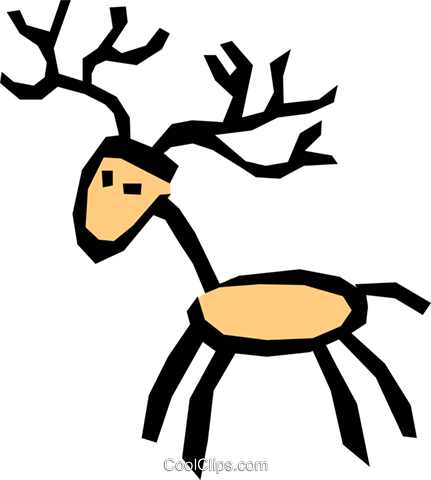 Deer Royalty Free Vector Clip Art illustration anim0799
