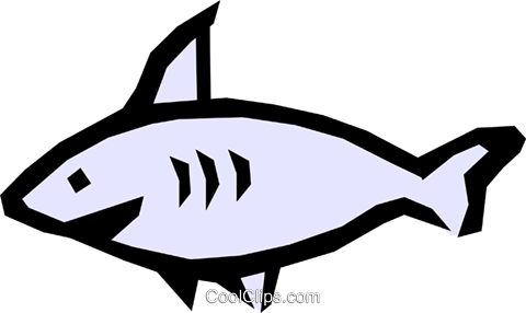 Shark Royalty Free Vector Clip Art illustration anim0801