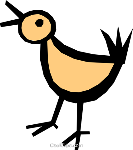 Bird Royalty Free Vector Clip Art illustration anim0803