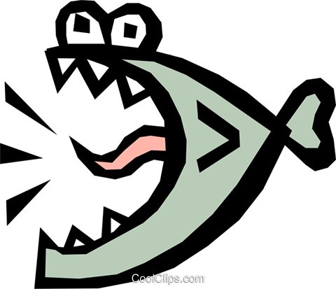Fish Royalty Free Vector Clip Art illustration anim0806