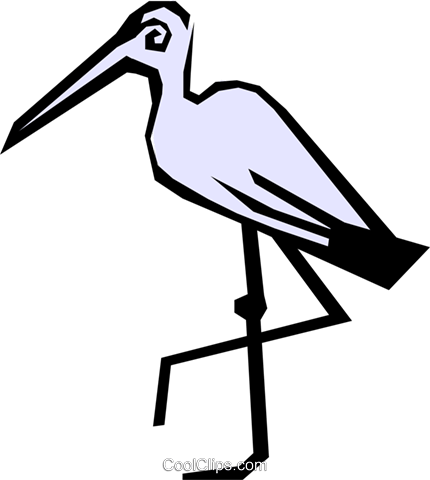 Crane Royalty Free Vector Clip Art illustration anim0810
