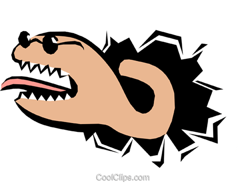 Cool animals Royalty Free Vector Clip Art illustration anim0813