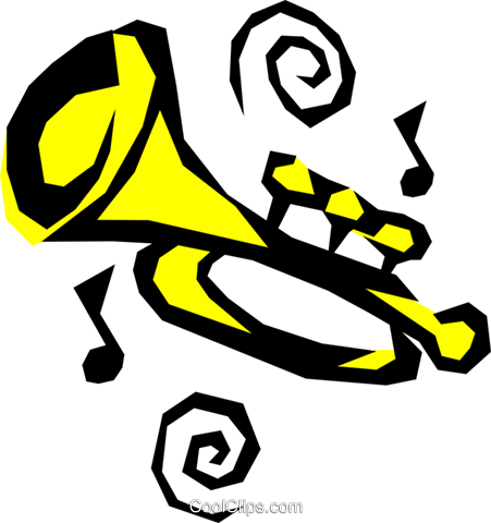 Trumpet Royalty Free Vector Clip Art illustration arts0183