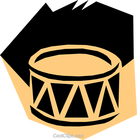 Woodcut drums Royalty Free Vector Clip Art illustration arts0187