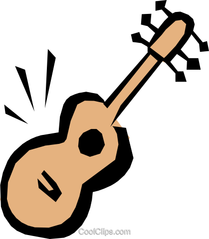 Guitar Royalty Free Vector Clip Art illustration arts0207