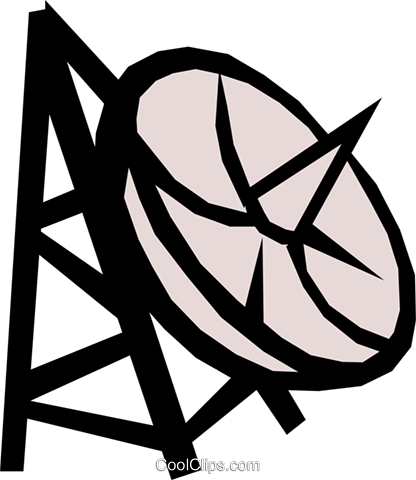Satellite dish Royalty Free Vector Clip Art illustration busi0527