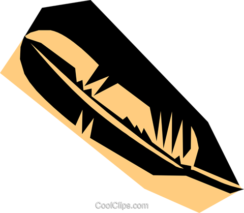 Woodcut feather Royalty Free Vector Clip Art illustration busi0529