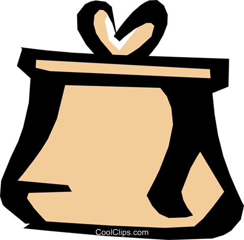 Change purse Royalty Free Vector Clip Art illustration busi0580