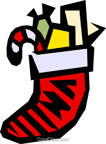 Christmas stocking Royalty Free Vector Clip Art illustration even0317