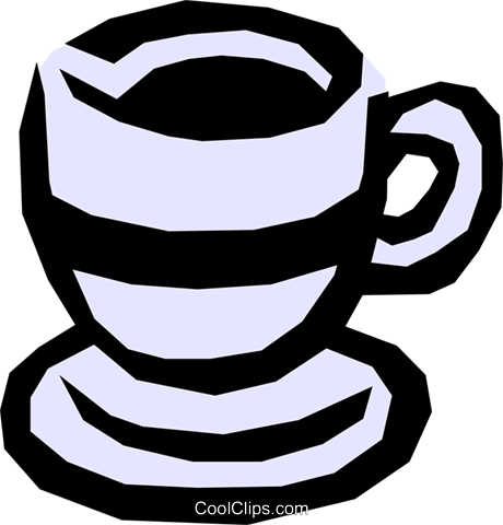 Cup of coffee Royalty Free Vector Clip Art illustration food0456