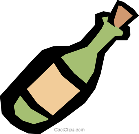 Bottle of wine Royalty Free Vector Clip Art illustration food0457