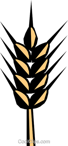 Cereal woodcut Royalty Free Vector Clip Art illustration food0462