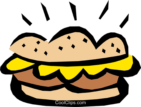 Sandwich Royalty Free Vector Clip Art illustration food0503