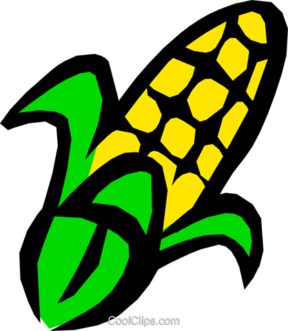Corn Royalty Free Vector Clip Art illustration food0508