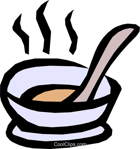Soup Royalty Free Vector Clip Art illustration food0511