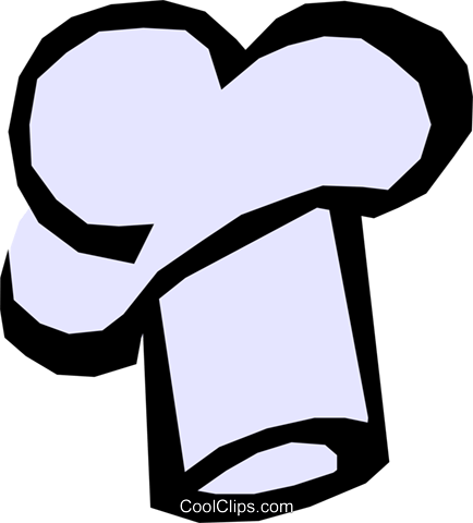 Chef's hat Royalty Free Vector Clip Art illustration hous0527