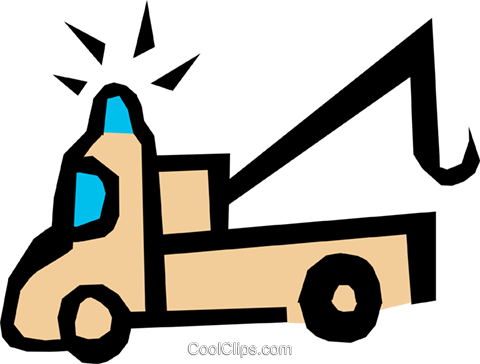 Tow truck Royalty Free Vector Clip Art illustration indu0527