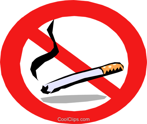 No smoking Royalty Free Vector Clip Art illustration medi0213