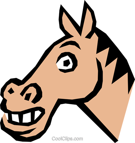 Horse Royalty Free Vector Clip Art illustration anim0847