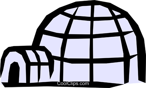 Igloo Royalty Free Vector Clip Art illustration arch0287
