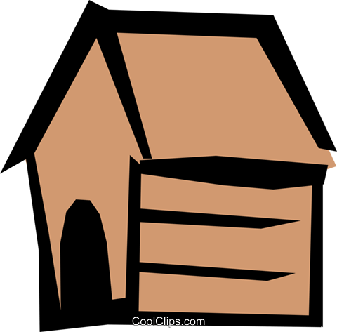 Dog house Royalty Free Vector Clip Art illustration arch0288