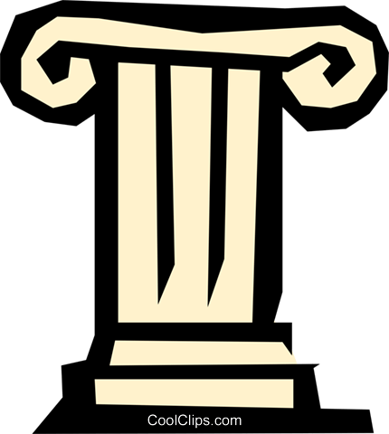 Pedestal Royalty Free Vector Clip Art illustration arch0289