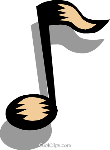 Musical Notes Vektor Clipart Bild arts0182