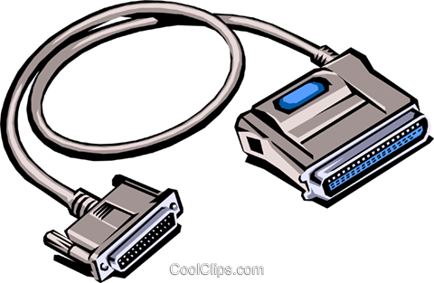 Computer cable Royalty Free Vector Clip Art illustration busi0083