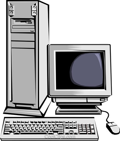 Computer workstation Royalty Free Vector Clip Art illustration busi0086