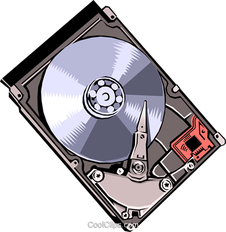 Hard disk Royalty Free Vector Clip Art illustration busi0092