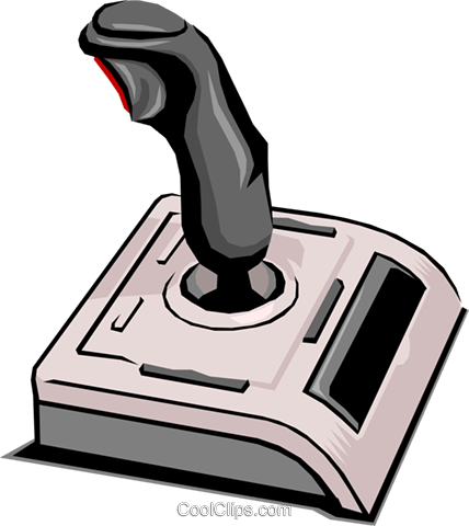 Computer joystick Royalty Free Vector Clip Art illustration busi0094