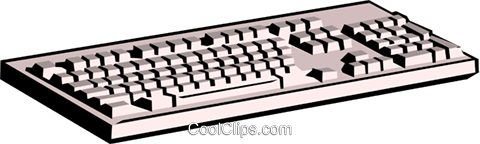 Computer keyboard Royalty Free Vector Clip Art illustration busi0095
