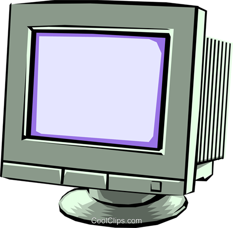 Computer monitor Royalty Free Vector Clip Art illustration busi0102