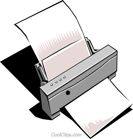 Computer printer Royalty Free Vector Clip Art illustration busi0105