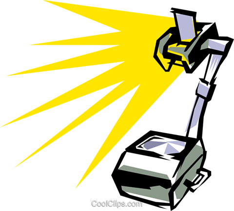 Overhead projector Royalty Free Vector Clip Art illustration busi0107