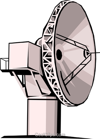 Satellite dish Royalty Free Vector Clip Art illustration busi0109