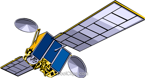 Satellite Royalty Free Vector Clip Art illustration busi0112