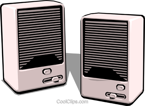 Computer speakers Royalty Free Vector Clip Art illustration busi0115