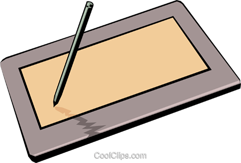 Digitizing tablet Royalty Free Vector Clip Art illustration busi0116
