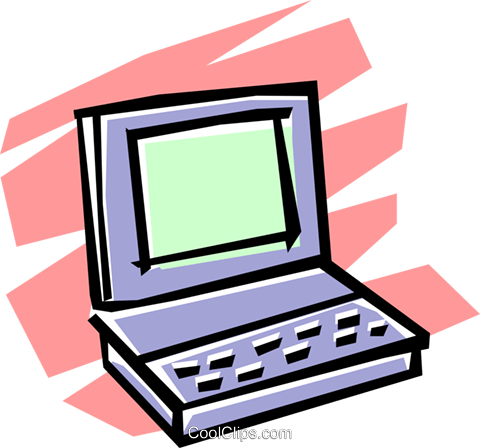 Laptop computer Royalty Free Vector Clip Art illustration busi0511