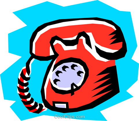 Telephone Royalty Free Vector Clip Art illustration busi0515