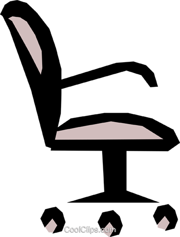 Office chair Royalty Free Vector Clip Art illustration busi0585